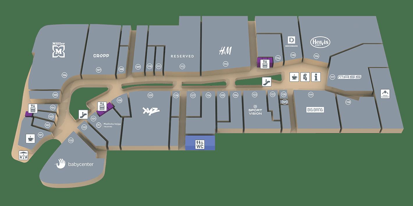 Trgovine in gostinske površine